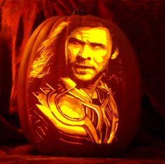 #Thor carve on foam pumpkin by The Pumpkin Geek. #avengers