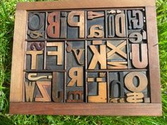 Letterpress Type - One each of every Letter of the Alphabet