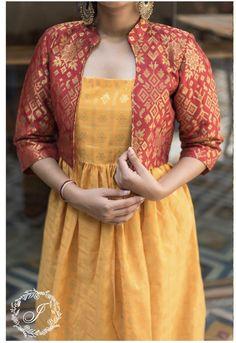Priyamani in AanDe Indo-Western Gown - Salwar Designs, Kurta Designs Women, Kurti Designs Party Wear, Fancy Blouse Designs, Dress Neck Designs, Saree Blouse Designs, Indian Designer Outfits, Indian Outfits, Kalamkari Dresses