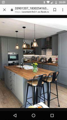 Kitchen Room Design, Kitchen Family Rooms, Interior Design Kitchen, Living Room Kitchen, Kitchen Decor, Condo Kitchen, Small Kitchen Diner, Open Plan Kitchen Dining Living, Kitchen Diner Extension