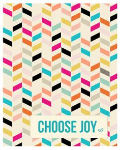 FREE printable motivational wall art // GDesigned: choose joy