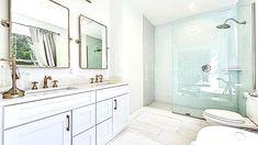 Glass Subway Tile Backsplash, Hardwood Floors, Flooring, Custom Kitchen Cabinets, Quartz Countertops, Home Renovation, Craftsman, Luxury, Modern