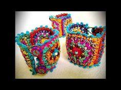 Pulsera a Crochet por Tejiendo de Corazon - YouTube