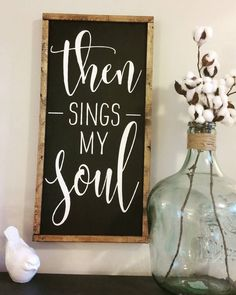 Love this song! This came out so beautifully I may need to keep it!! #thensingsmysoul #farmhousedecor #farmhousestyle #SignMaker #simplySarahShop #shopsmallbusiness #milspo #milspreneur #mompreneur