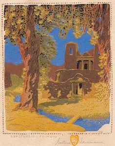 Gustave Baumann Santuario de Chimayo