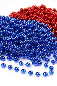 ~✿ڿڰۣ Blue and Red Beads Red S, Red White Blue, Aqua Blue, Cobalt Blue, Creative Colour, Blue Bloods, Plastic Beads, Red Garnet, Shades Of Red