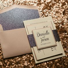 DANIELLE Suite Glitter Package, pink and grey wedding invitations, glitter wedding invitations, letterpress wedding invitations, art deco inspired wedding invitations #myweddingnow.com #myweddingnow #Top_wedding_invitations #wedding_invitations_DIY #Simple_wedding_invitations #Cute_wedding_invitations #easy_wedding_invitations #Best_wedding_invitations