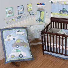 Sumersault Big Wheels Crib Bedding Collection