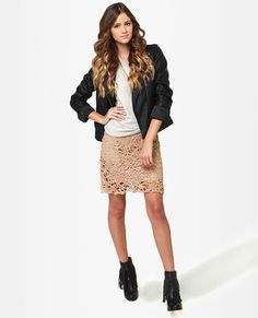 Beige Lace Skirt- It's going on the wish list
