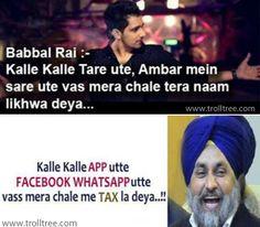 Fb   WhatsApp Utte Vass Mera Chale Me TAX la Deya..!!! Share Facebook & WhatsApp Jokes - http://www.trolltree.com/