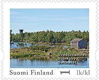 Merenkurkun saariston Svedjehamnin omakuvapostimerkki 2013