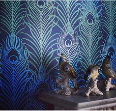 Mathew Williamson peacock feather wallpaper