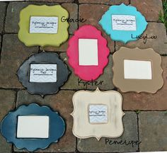 11x14 Painted picture frame Custom shape frame by kygracedesigns, $44.00