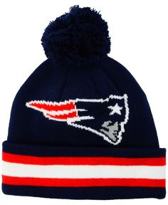 b862bf662d9 Outerstuff Toddlers  New England Patriots Cuff Pom Knit Hat Knit Hat For  Men