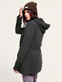 Free People Hooded Tencel with Knit Jacket, $168.00