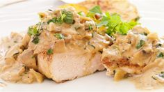 Chicken with tarragon and chanterelle mushrooms