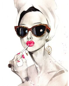 My fashion illustration interview with Cocaine Pretti #fashionillustration #fashionillustrator #audrethepburnart