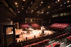 Anne Frank set for Madden Theatre at North Central College in Naperville, IL. Beautiful college with beautiful facilities! Great theatre program! #northcentralcollege #naperville #greatcolleges