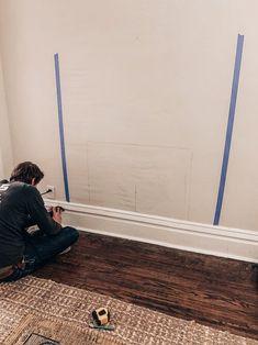 Sure Fire Cozy Enhancer — Our Blue Abode Fireplace Facing, Fireplace Tv Wall, Build A Fireplace, Fake Fireplace, Fireplace Built Ins, Shiplap Fireplace, Fireplace Inserts, Fireplace Ideas, Shiplap Trim