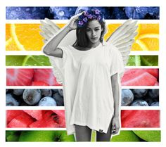 """""""set 028; kinda fruity"""" by goodvibes-goodtides ❤ liked on Polyvore featuring art"""