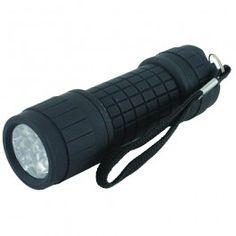 Yellowstone 9 LED Rubber Handheld Torch Flashlight