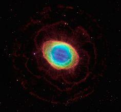 The region around the Ring Nebula (Hubble/LBT composite)