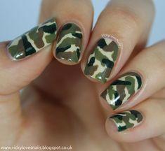 Nailpolis Museum of Nail Art   Camo Nails by Vicky Standage
