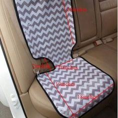 "26""*10"" Black & Gray Chevron Auto Car Seat Cover"