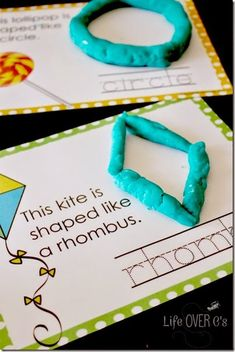 Shape Play Dough Mats Free Shape Play Dough Mats for working on fine-motor skills while learning shapes and practicing handwriting.Free Shape Play Dough Mats for working on fine-motor skills while learning shapes and practicing handwriting. Math Classroom, Fun Math, Kindergarten Math, Math Activities, Preschool Activities, Toddler Preschool, Maths, 2d Shapes Activities, Preschool Shapes