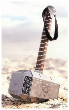 Hammer of Thor by Thor's Hammer (Mjolnir).- Fully textured with Vray m. - - Hammer of Thor by Thor's Hammer (Mjolnir).- Fully textured with Vray m.