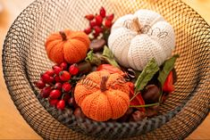 Crochet Pumpkin, Handmade, Hand Made, Handarbeit