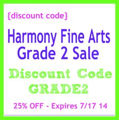 Harmony Fine Arts Grade 2 Sale - save big on the grammar stage plans for Renaissance art.