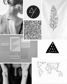 Badass triangle feather & world map