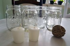 mason jar wedding candles | ... confirmed guests. And we've even received our first wedding gift