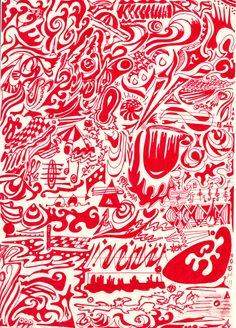 Vida en rojo (rotulador).