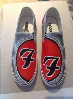 Foo Fighters custom Painted Shoes by ~weezy-the-zelda-fan.  Want (minus the penis I just noticed!)