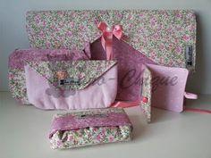 Pano-Chique - Conjunto pessoal rosa