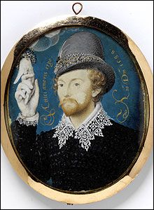 Young Man Clasping a Hand from a Cloud, Nicholas Hilliard, V Images/Victoria and Albert Museum