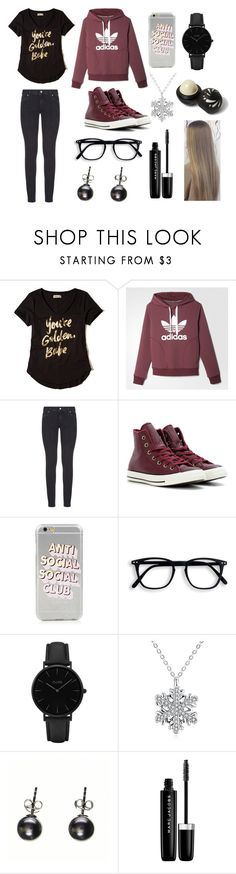 """""""Alina we meet again"""" by torilee-03 ❤ liked on Polyvore featuring Hollister Co., adidas, Paige Denim, Converse, Anti Social Social Club, CLUSE, Black, Marc Jacobs and River Island"""