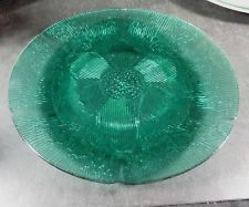 """Fortecrisa Mexico Green Glass 10"""" Dinner Plate"""