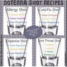 dōTERRA Shot Recipes Www.mydoterra.com/DeAnnaHamel