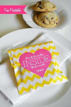 Free Printable Tag for Oreo-stuffed cookie wedding favor
