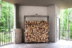 A dumb waiter is a great way to serve the transport needs of things in the home: firewood, groceries, seasonal decorations