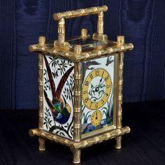 French gilt-brass and cloisonne enamel striking carriage clock, Paris, circa 1880