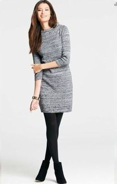 Womens Business Casual Sweater Dress Like this idea for fall or winter attire! The post Women's Business Casual Sweater Dress appeared first on Woman Casual - Woman Fashion Business Casual Sweater, Business Casual Outfits, Casual Sweaters, Business Attire, Winter Sweaters, Business Dresses, Business Ideas, Business Chic, Business Fashion