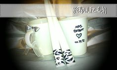 Custom - hand painted - coffee mug set. Great for any special occasion or holiday. 2 Mugs for $10