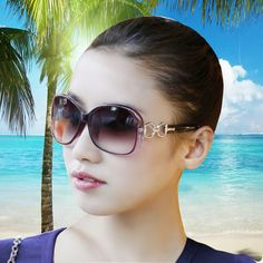 Women's Polarized Sunglasses Big Box Anti-uv Sunglasses Black Female Large Sunglasses Maut  Eye Glasses Frames For Women