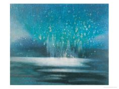 """Starry Sky Giclee Print by Yunlan He ○ #Art ○ Starry Sky ○ """"This piece is marvelous--it has action and peace at the same time and the colors are beautiful!"""""""