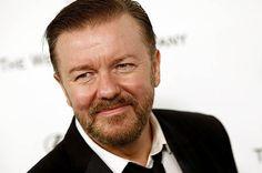 El irreverente Ricky Gervais a su llegada a una de las pasadas ediciones de los Golden Globe.