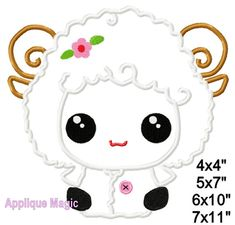 Little Lamb Easter Machine Applique Design Embroidery Pattern for Face Masks or Others 4x4 5x7 6x10 INSTANT DOWNLOAD by AppliqueMagic on Etsy Machine Applique Designs, Machine Embroidery Patterns, Different Types Of Fabric, W 6, Pastel Colors, Printing On Fabric, Pattern Design, Hello Kitty, Etsy Seller